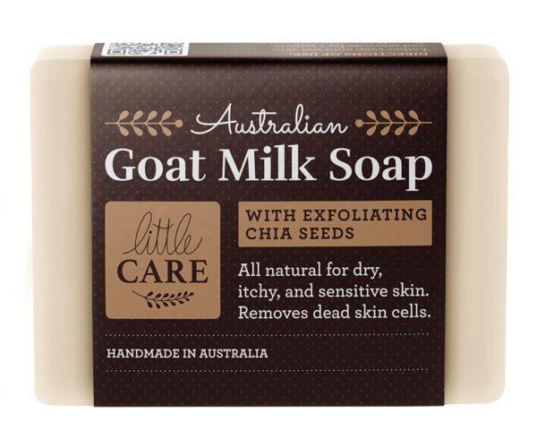 exfoliating chia seeds soap bar